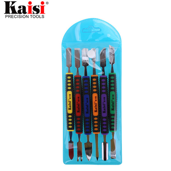 1PCS/Kaisi Flexible 6pcs Dual Ends Metal Spudger Set Prying Opening Repair Tool Kit for iPhone iPad Tablet Mobile Phone