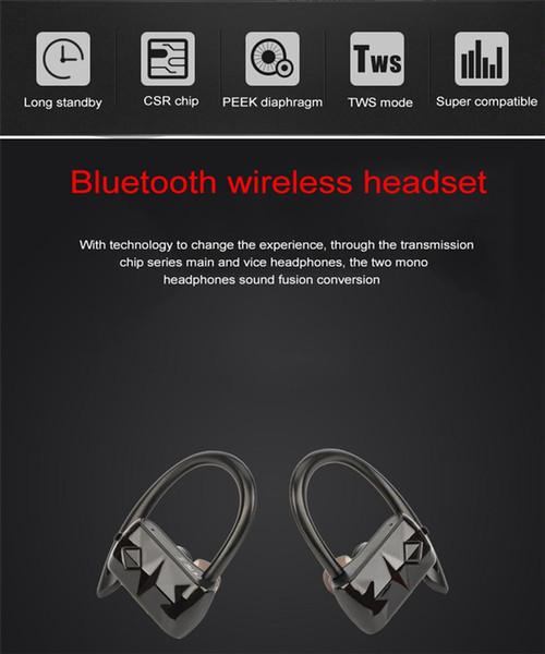 A18 Mini Twins Esporte Correndo Bluetooth 4.2 Fone De Ouvido Sem Fio Verdadeiro fone de Ouvido Estéreo Fone De Ouvido Hands-free Com Microfone Atacado DHL Livre