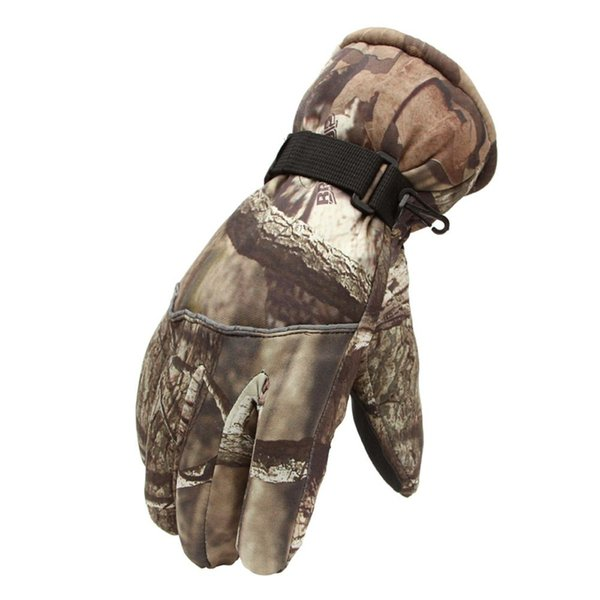 High Quality Windproof Winter Snowboard Skiing Men Gloves Outdoor Sports Riding Thermal Thick Warm Full Fingered Gloves