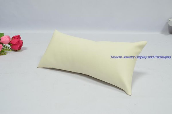 beige PU leather pillow