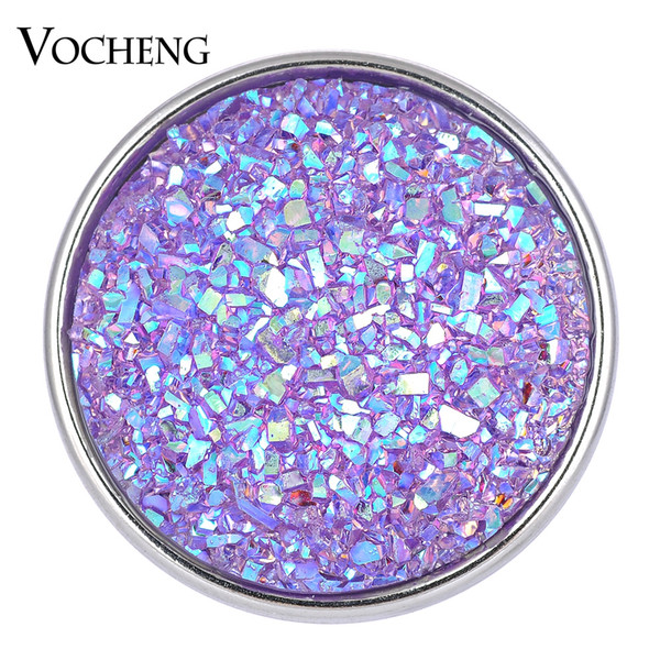 NOOSA Ginger Snaps Jewelry 9 Colors Glitter Resin Snap 18mm Copper Metal VOCHENG Vn-1613