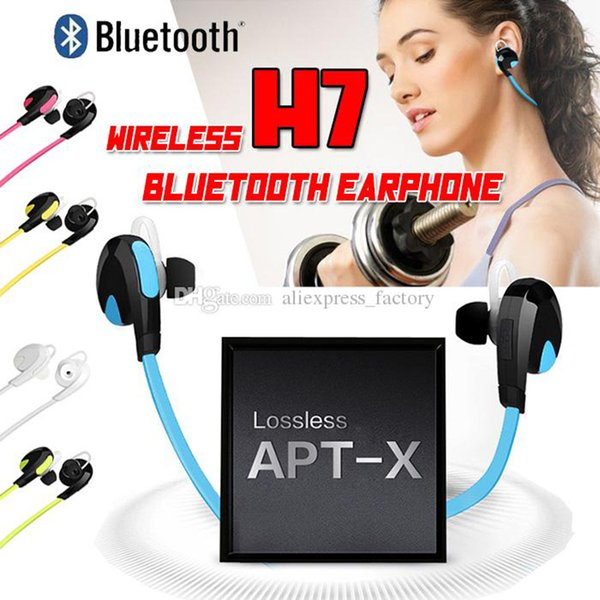 H7 Bluetooth Wireless V4.0 Sport Earphone And Noise Reduction Stereo Headset Headphone Handsfree Best CSR For iPhone X 8 7 Plus Samsung S8