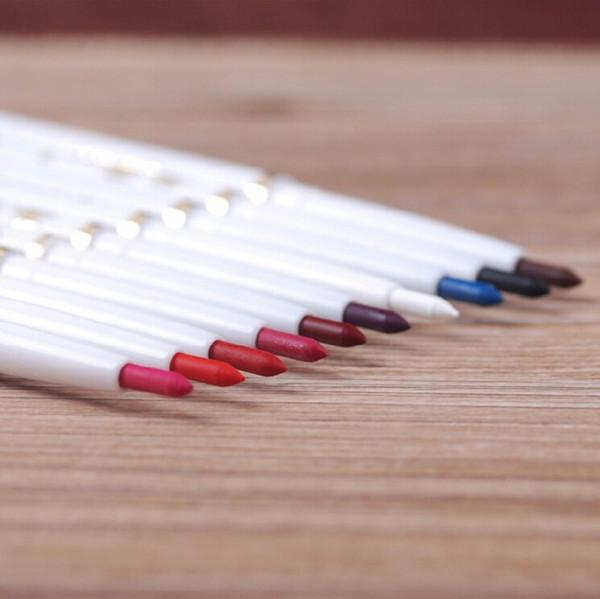 New Brand nature lip pencil long-lasting makeup lipstick lady waterproof beauty maquillage lip liner 12pcs/lot