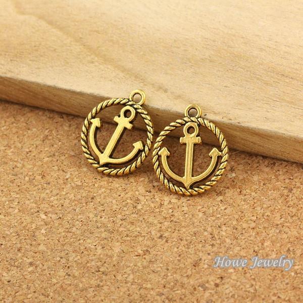 54 unids patrón de la paz de la vendimia de oro antiguo cupieron las pulseras collar DIY Metal fabricación de joyas R025