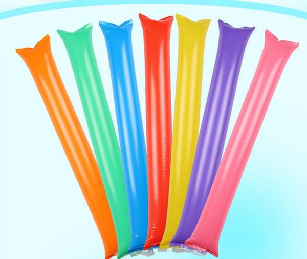 heißer verkaufender aufblasbarer Beifallstockkonzertgebrauch des PVC-Materials aufblasbarer Ballonstock-Parteidekoration-Spielzeugbeifallstock geben Verschiffen frei