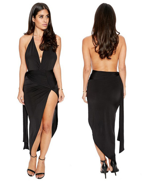 Cheap the new sexy explosion hanging neck hollow bandage dress dress LYQ058