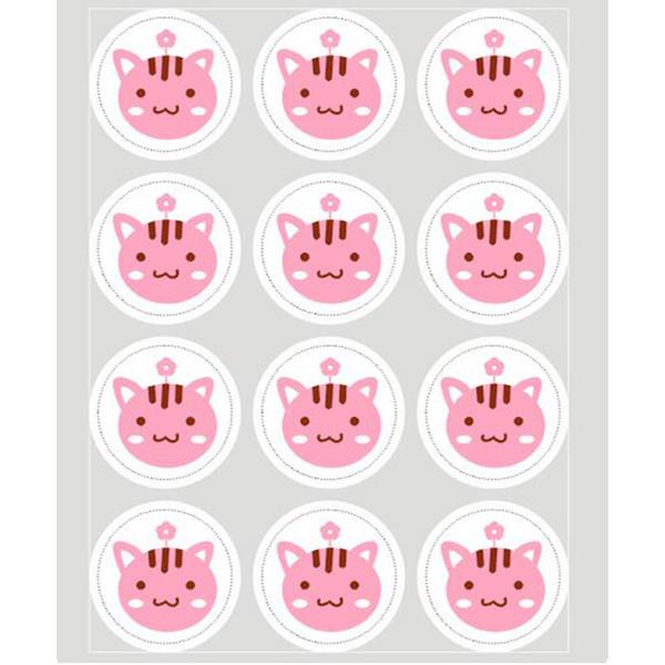 Cute 20 sheet Label Sealing Paste Sealing Sticker Baking Cookies Packaging Decorate DIY Sticky