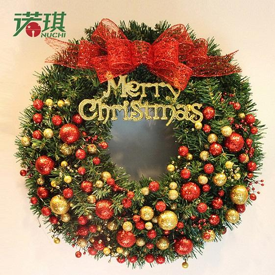 Home Dining Wall Pendants PVC Material Different Sizes Christmas Wreath Party Hanging Ornaments Christmas Decoration Garland Beautiful Gift