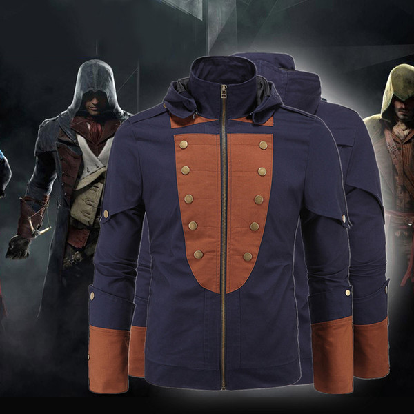5XL Plus Size Assassin's Creed Hoodies Jacket Stand Collar My Tribe Faux Mens Leather Business Outwwear Winter PU Men Motorcycle J161035