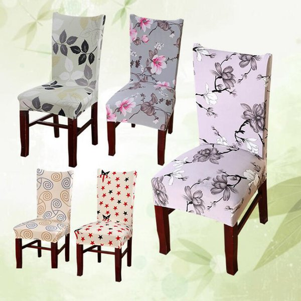 Swell Flower Printing Removable Chair Cover Stretch Elastic Slipcovers Restaurant For Weddings Banquet Folding Hotel Chair Covering Rental Chair Covers For Caraccident5 Cool Chair Designs And Ideas Caraccident5Info