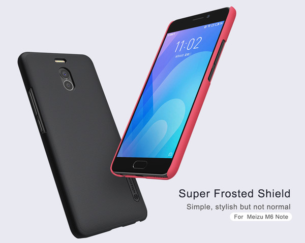 Meizu M6 NOTE 5.5 inch Case Meizu M6 NOTE Case Original NILLKIN Super Frosted Shield Hard Back Cover with Free Screen Protector