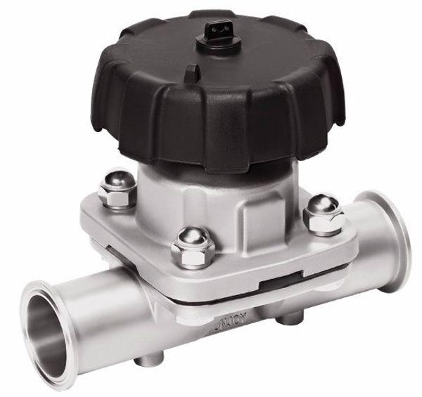 top popular Sanitary Quick Diaphragm Diaphragm 316L DN10 Mini Stainless Steel Manual Valve Diaphragm Valve 2021