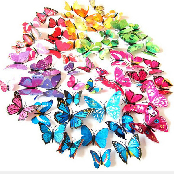 7 CM NUEVA Decoración Del Hogar Artificial 3D Mariposa Imán de Nevera Etiqueta Imanes de Nevera 01 #