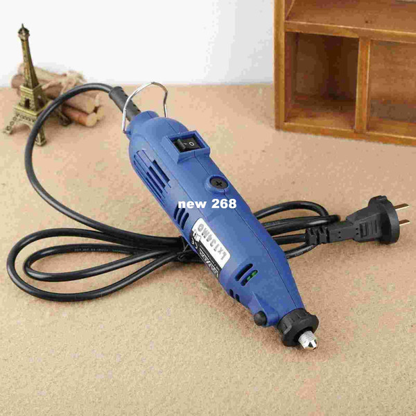 "Free Shipping Electric Grinder 180W Polishing Machine Dremel Rotary Tool 6 Speed Grinding M8 3mm/0.12""Keyless Chuck 220V"