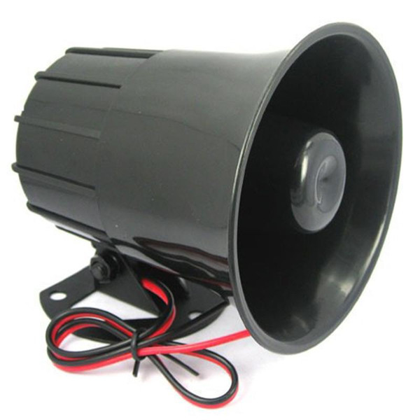 Wholesale- DC 12V Wired Loud Alarm Siren Horn Outdoor With Bracket For Home Security Protection System Alarm Systems Security Home
