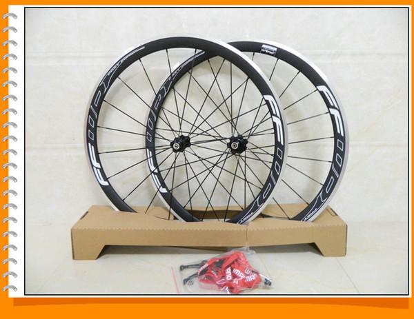 Mate / brillante aleación Ffwd 38 mm de fibra de carbono remachador Con Powerway R36 concentradores de carbono de ruedas bici del camino de la rueda de bicicleta