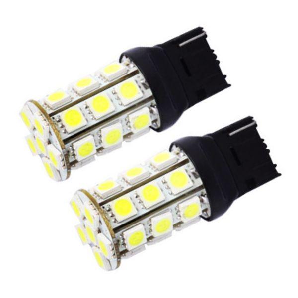 10pcs T20 W21W 7440 27 SMD 5050 LED Auto strobe flash Red tail light 27smd White Car Parking lights Tail Lamp Rear Bulb 12V