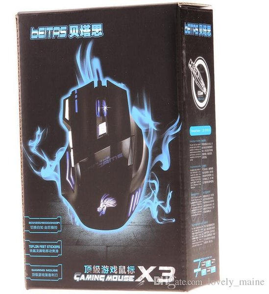 Wholesale High Quality Professional Wired Gaming Mouse 7 Button 5500 DPI LED Optical USB Wired Computer Mouse Mice Cable Mouse