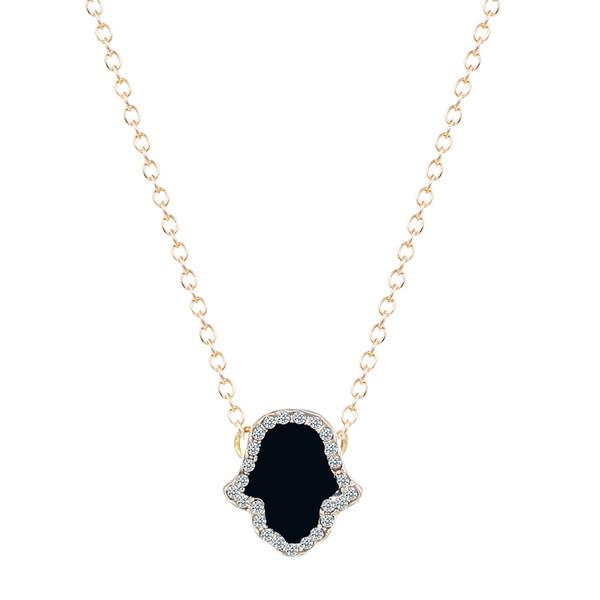 10pcs/lot Classic hand of Fatima Hamsa Necklace Brand Jewelry Best Friend Pendants Long Chain Palm Statement Jewelry Wholesale