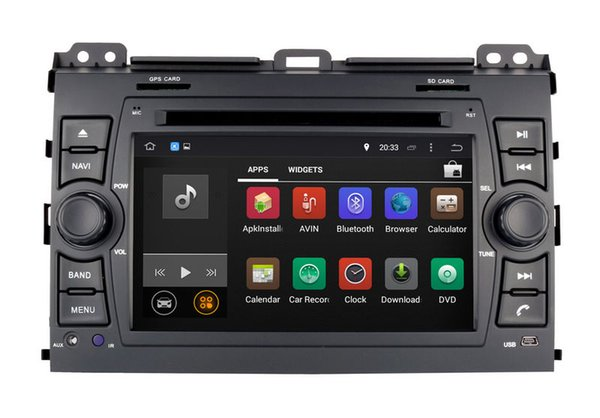 Android 7.1 Car DVD GPS Navigation for Toyota Prado 2002 2003 2004 2005 2006 2007 2008 2009 with Radio BT USB Video