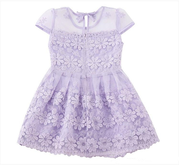 The latest Style Cheap Cotton Beautiful Flower Girls' Dresses Beautiful Girls Pageant Dresses For Wedding Cascading for Kids Formal Wear