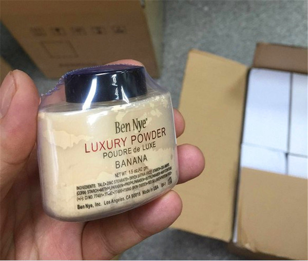 top popular Newest Ben Nye Luxury Powder 42g New Natural Face Loose Powder Waterproof Nutritious Banana Brighten Long-lasting free DHL 2021
