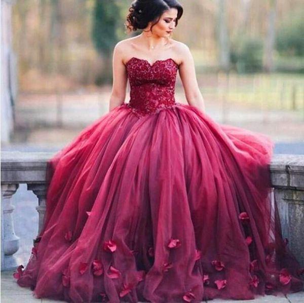 2019 бордовый милая вечерние платья линия ручной работы цветок длиной до пола аппликация плюс размер выпускного платья