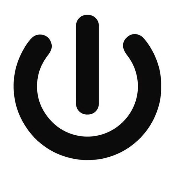 Etiqueta de auto personalizada del botón de encendido de 15 * 14 cm negro / plateado