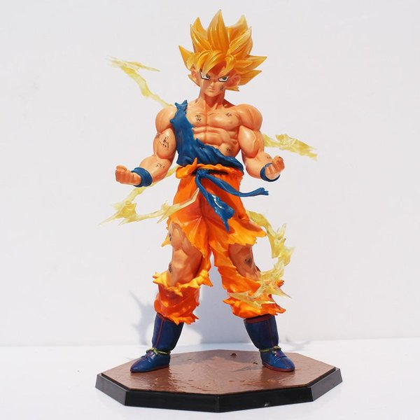 Dragonball Dragon Ball Z Super Saiyan Son Gokou PVC Action Figure Goku Figures Collection Model Toy Gift With Box 17cm
