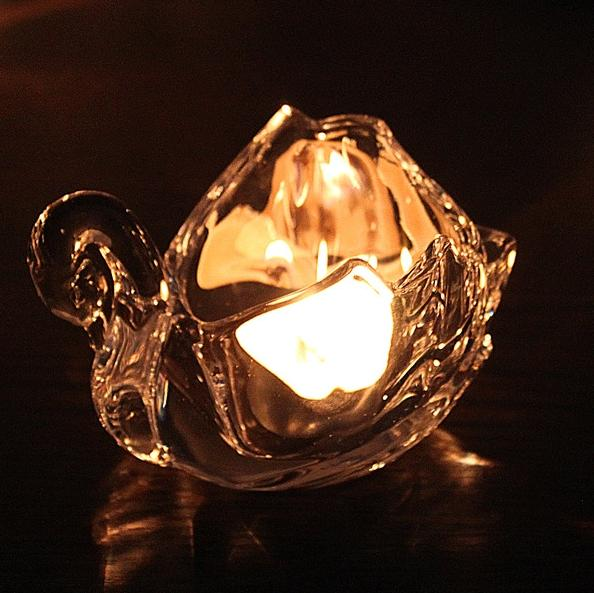 Samll Crystal Glass Candle Holders Home Decor For Weddings Decoration Crystals Swan Votive Candle Holders With T Lite