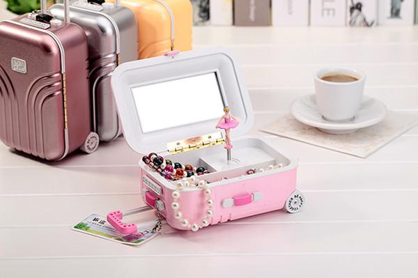 Bagages valise cadeau d'anniversaire boutique créative valise pour envoyer des filles bijoux boîte à musique boîte à musique rotation enfants