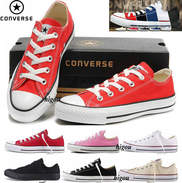 2017 Converse Chuck Tay Lor All Star Classic Allstar Shoes For Men Women Converses Running Low Top Casual Canvas White Sneakers With Box