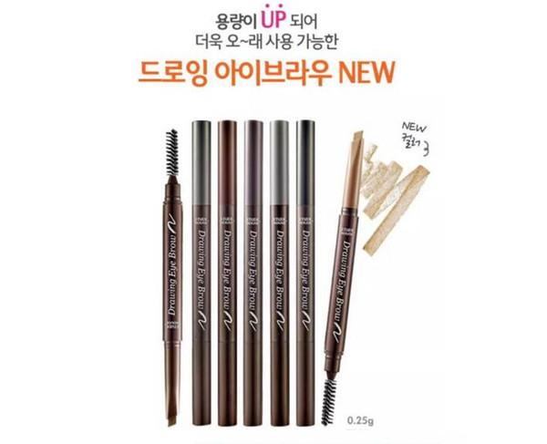 Etude House Triangular shape Drawing Eye Brow 5 color Long -lasting Natural Eyebrow Pencil Brush Enhancers eye makeup