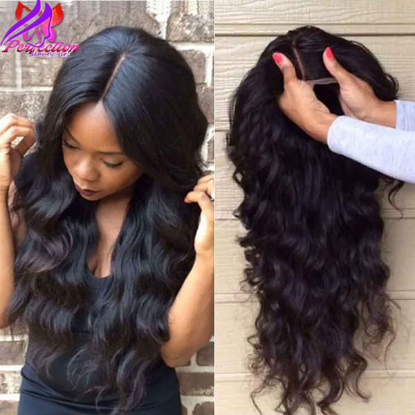 Pas cher 150density synthétique avant de lacet perruque résistant à la chaleur hors Black Long Body Wave perruques synthétiques pour les femmes noires