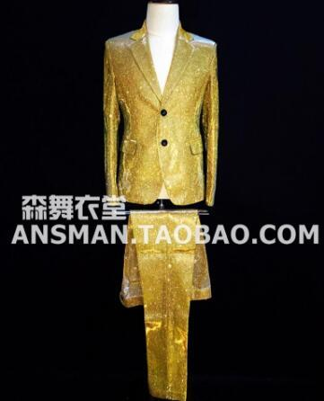 Gold suits and pants