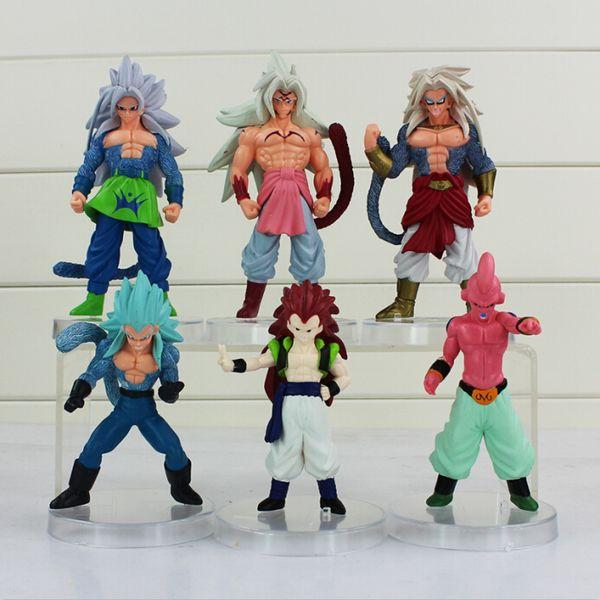 Dragon Ball Majin Buu Gotenks Saiyan Son Goku PVC Action Figure Colletable model toy for kids' gift free shipping EMS
