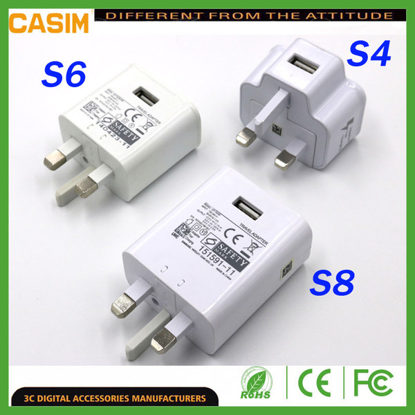 For am ung u b real fa t charger 5v 2a travel home charger adapter uk plug for univer al martphone ipad android equipment phone