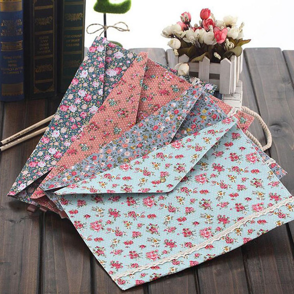 top popular Cute Korean Style Little Flowers Fabric A4 File Folder Document Filing Bag School Office Supply Storage Bag ZA5066 2021