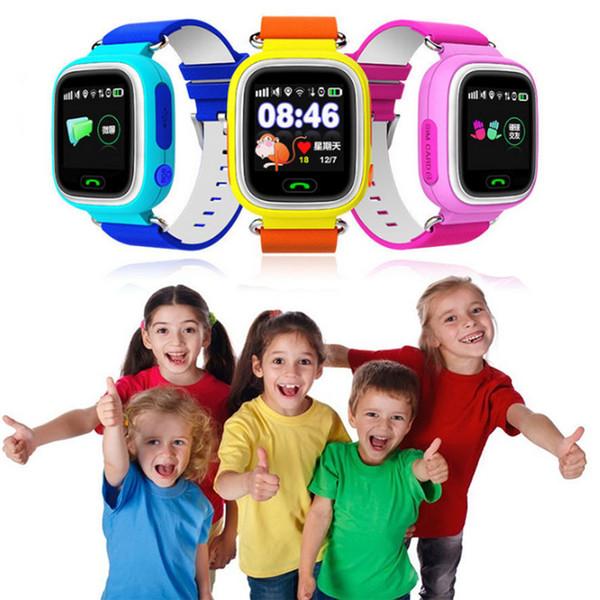 Enfant Smart Watch Intelligente Locator Tracker Anti-Perdu Moniteur À Distance Q80 GPRS GSM GPRS Montre Intelligente Meilleur Cadeau De Noël Pour Enfants Enfants