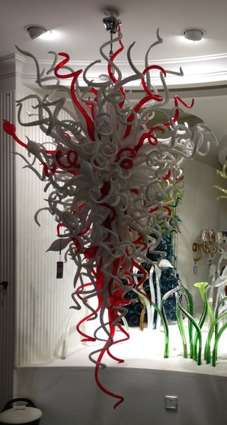 Led Source 100% Hand Blown Borosilicate Glass Dale Chihuly Murano Art Grand Lobby Lighting Commercial Chandeliers
