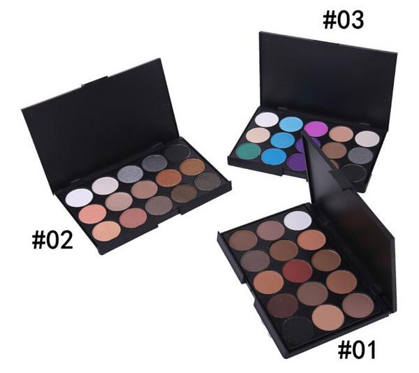 15 Color Nake Shimmer Eyeshadow Paleta de maquillaje Set Profesional Eye Shadow Foundation Maquillaje Nude Smoky Pearl Eyeshadow