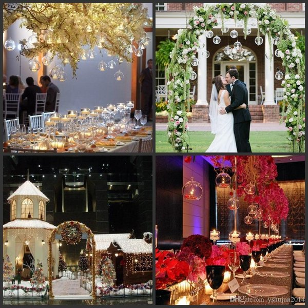 Romantic Crystal Glass Hanging Candle Holder Candlestick Wedding Dinner Decor 18 pieces/lot Christmas gift Xmass decoration