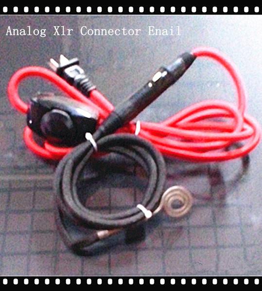 Tragbare D-nagel Analog Enail Controller flache Heizung 5 Pin XLR-anschlüsse 120 v 150 watt passen Domeless Quartz Banger Nagel Heizung Spule 10mm 9mm ID