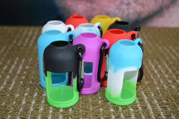 Colorful 30ml Silicone ELiquid Bottle Case Fit E Juice Bottle Silicone cover Protective for E Liquid Bottles Soft Pouch Box