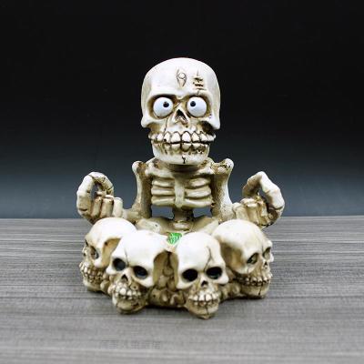Artisanat Halloween décoration crâne portable lanterne expédition personnalité créatrice cendrier mode rétro cadeau cadeau crâne cendrier