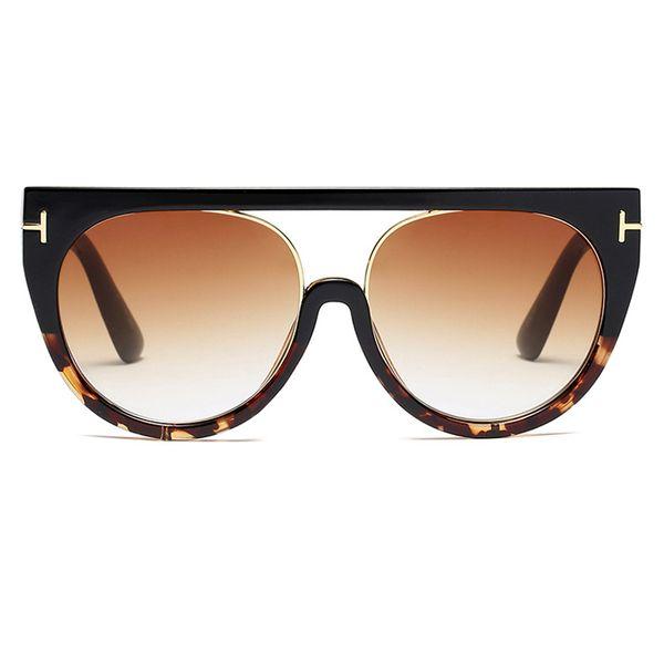 C10 Black Leopard Frame Gradient Brown