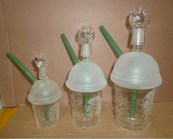 Dabuccino Style Inspired Starbucks Themed Concentrate Cup Rig hitman bongs glass rig glass waters pipes with 10mm 14.5mm 18.8mm size