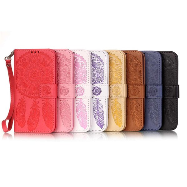 Dreamcatcher Flip Wallet Leather Case TPU Cover For iPhone 5 6 7 Plus Samsung Galaxy S6 S7 edge Grand Prime G530 A5 J5 2016 Free Strap US1