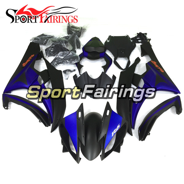 Matte Black Blue New Injection Fairings For Yamaha YZF600 YZF R6 06 07 2006 - 2007 ABS Motorcycle Full Fairing Kit Bodywork Cowling