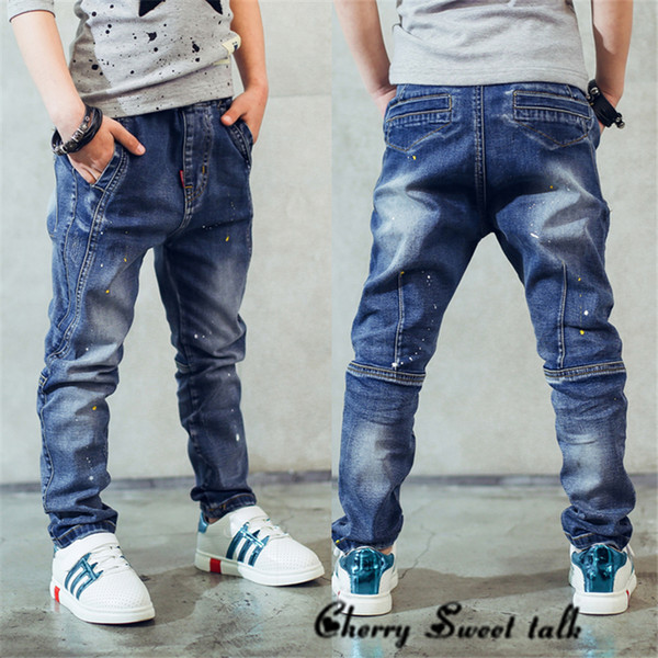 best authentic modern techniques buying cheap Boy'S Jeans, Children'S Clothing Boys Jeans Spring And Autumn Splash Ink  Children Pants 3 4 5 6 7 8 9 10 11 12 13 14 Years Old Baby Jeans Online  Girls ...